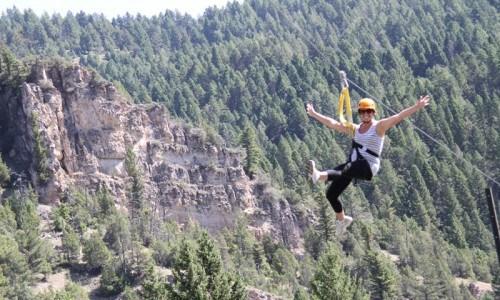 Super Zipline Tour in Big Sky, Montana