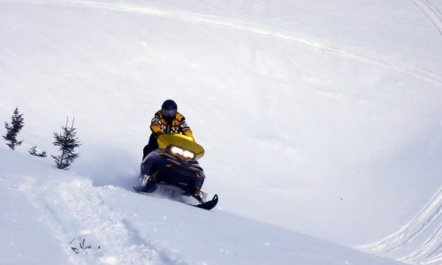 Unguided Snowmobile Rental