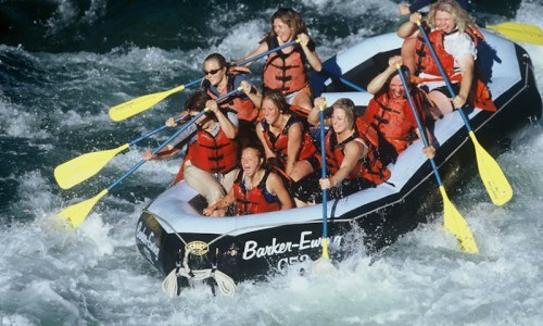 8-mile Whitewater Rafting on the Snake River (14 Man Boat)