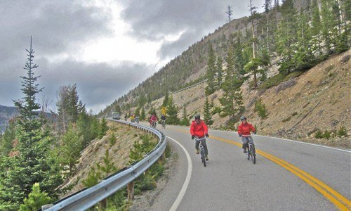 Beartooth Pass Bike Ride near Red Lodge, Montana